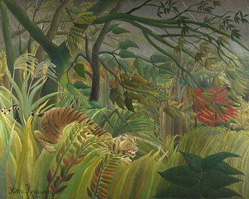 Tiger in a Tropical Storm (Surprised!), Henri Rousseau sur