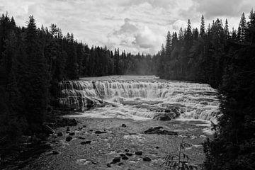 Dawson Falls - zwart/wit van Anouk Noordhuizen