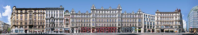Praag Vodickova architectuur panorama van Panorama Streetline