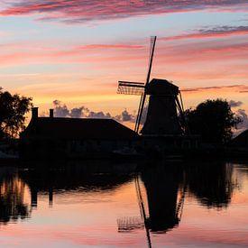Een Hollandse zonsondergang van Peter Korevaar