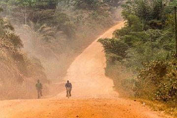 Fietsers in Afrika van Leo Hoogendijk