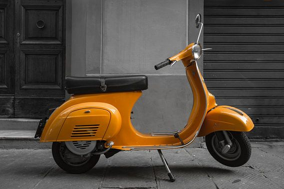 Orange Vespa
