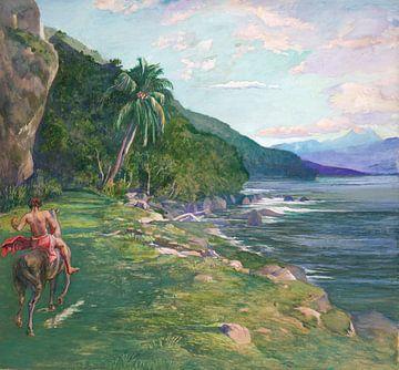 John La Farge~Eine Abkürzung in Tahiti