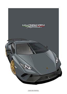 Lamborghini Huracan Performante van Car On Paper