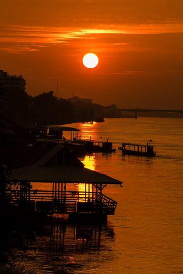 Zonsondergang over de Mekong - 1