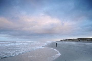 Strand van Vlieland (Friesland) van Tjitte Jan Hogeterp
