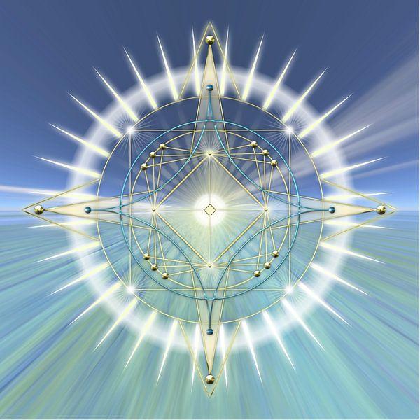 Energiepatroon lichtcirkel II van Shirley Hoekstra