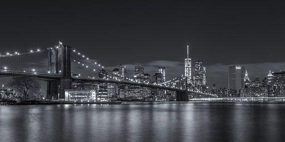 New York Skyline - Brooklyn Bridge (6) von Tux Photography