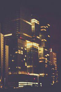 Nacht op de Wilhelminapier van Patrick Schenk