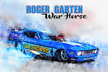 Roger Garten's, War Horse met titel van Theodor Decker