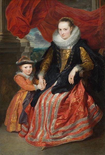 Susanna Fourment und ihre Tochter, Antoon van Dyck von Meesterlijcke Meesters