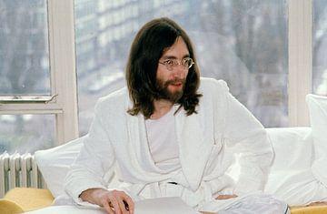 John Lennon 1969 Bett - im Hilton Amsterdam von Jaap Ros