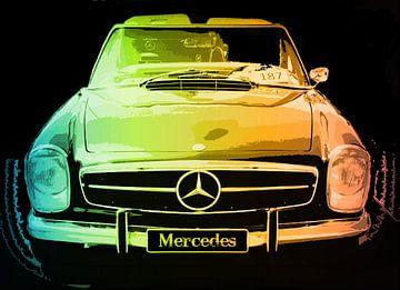 Mercedes Artwork in Pastels van Nicky`s Prints