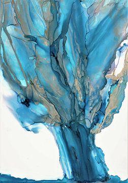 Blauw zilveren knotwilg. van Ineke de Rijk