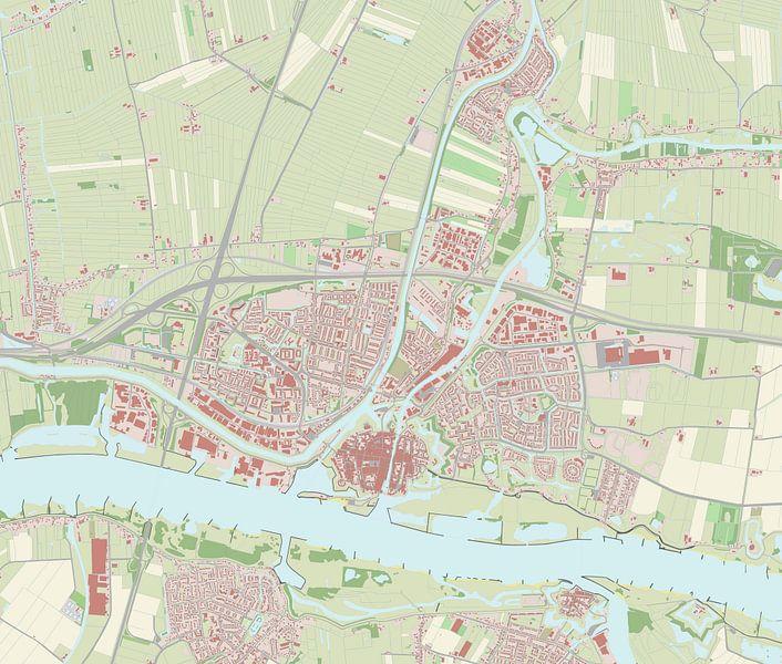Kaart vanGorinchem