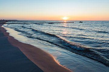 Sonnenuntergang in Vitte auf der Insel Hiddensee von Werner Dieterich