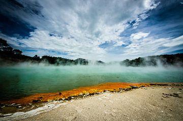 Champagne Pool - Nieuw Zeeland van Ricardo Bouman