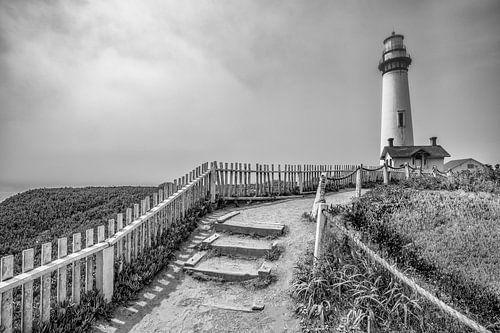De vuurtoren van Pigeon Point (Grote Oceaan) van Remco Bosshard