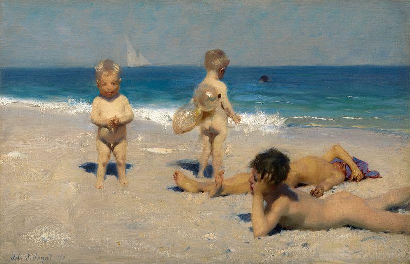 Neapolitanische Kinder beim Baden, John Singer Sargent von Meesterlijcke Meesters