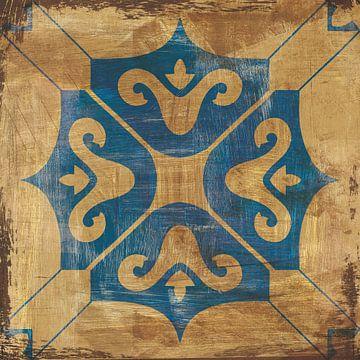 Marokkaanse tegels blauw i, Cleonique Hilsaca van Wild Apple