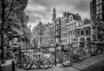 AMSTERDAM Bloemgracht schwarz-weiß  von Melanie Viola