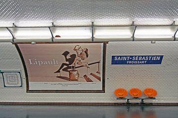 Metro station van Parijs van Maurice de vries
