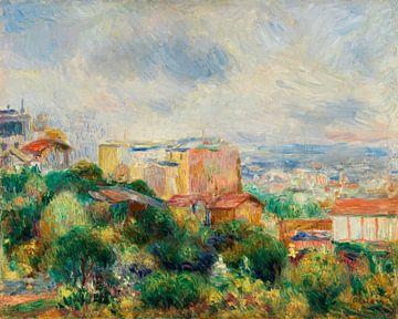 zicht op Montmartre, Renoir (1892) van Atelier Liesjes