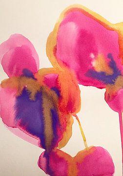 Rosa Veilchen von Helia Tayebi Art