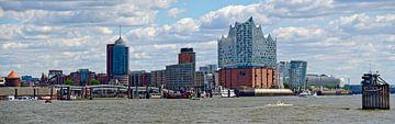 Panorama der Hafencity von Leopold Brix