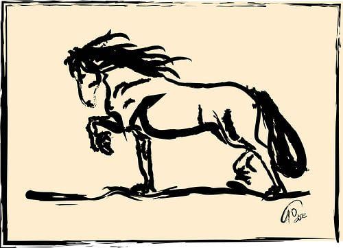 Pferd Blacky von