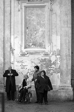 Rome | Zwart wit foto's in Rome | mensen/people | Italie van heidi borgart