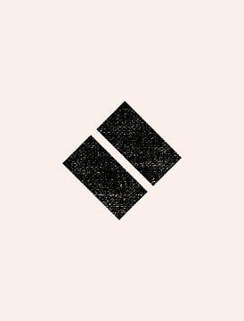 Retro jaren 20 vintage  geometric shape . Nr.16