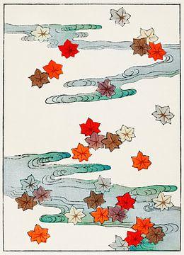 Herfst en water illustratie, Watanabe Seitei