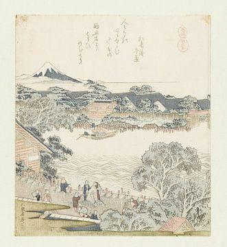 Der Pferdebindestein, Katsushika Hokusai, 1822.