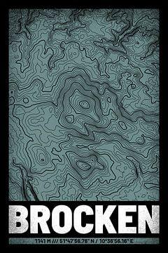 Brocken | Kaart Topografie (Grunge) van ViaMapia