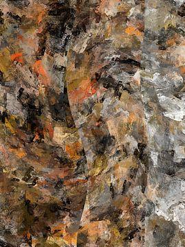 Abstrakt in braunen Grautönen von Maurice Dawson