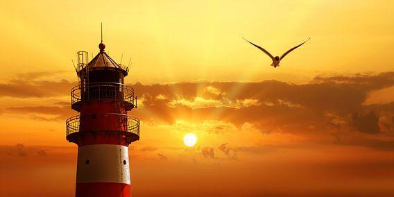 Der Himmel beim Leuchtturm von Monika Jüngling