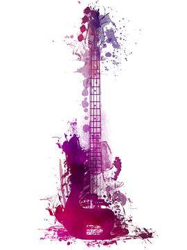Gitarre 38 Musikkunst #Gitarre #Musik von JBJart Justyna Jaszke