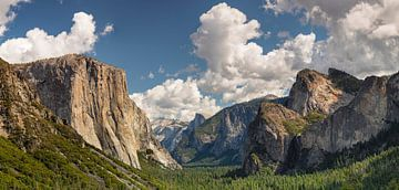 Tunnel View met El Capitan en Half Dome, Yosemite National Park, Californië, Verenigde Staten, VS, van Markus Lange