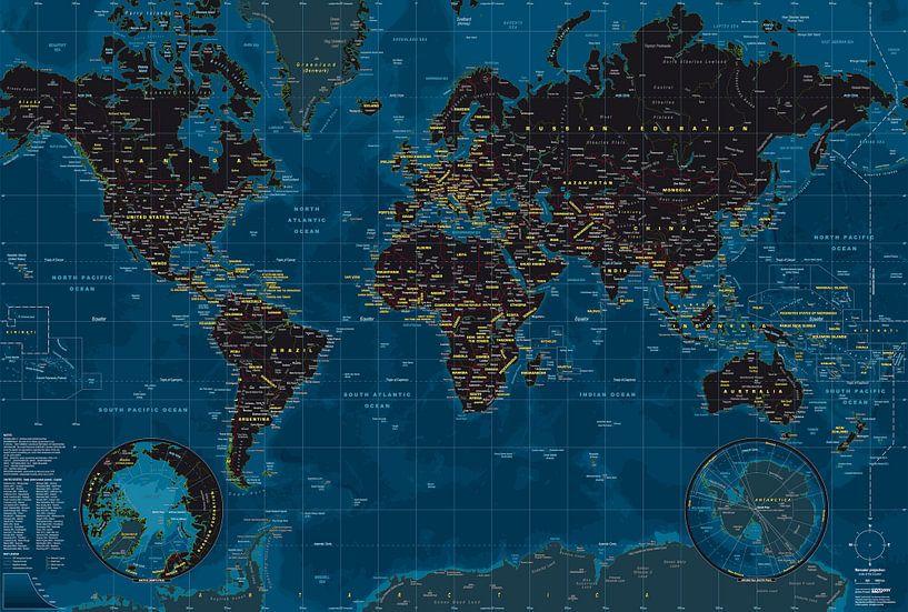 Planisphère Nuit van MAPOM Geoatlas