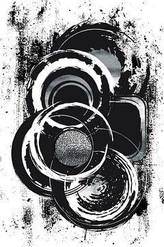 Abstrakte Malerei Nr. 51 | silber von Melanie Viola
