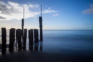 Vlissingen wazige zee van Marika Rentier