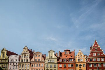 centraal plein in Wrocław van Eric van Nieuwland