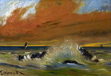 Louis Eilshemius, Sonnenuntergang - 1916 von Atelier Liesjes