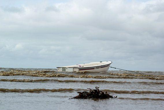 Boot op de noordzee in Denemarken