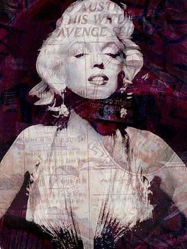 Marilyn Monroe graffiti 2 von Joost Hogervorst
