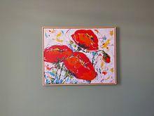 Klantfoto: Klaprozen van Vrolijk Schilderij, op canvas