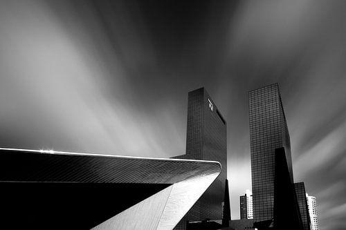 Rotterdam Centraal Station en Nationale Nederlanden van