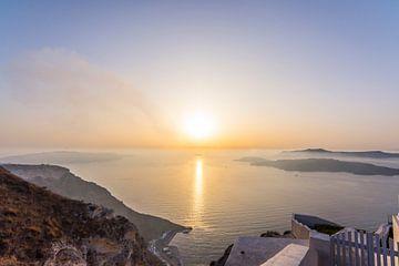 De zonsondergang van Santorini von Rens Bok
