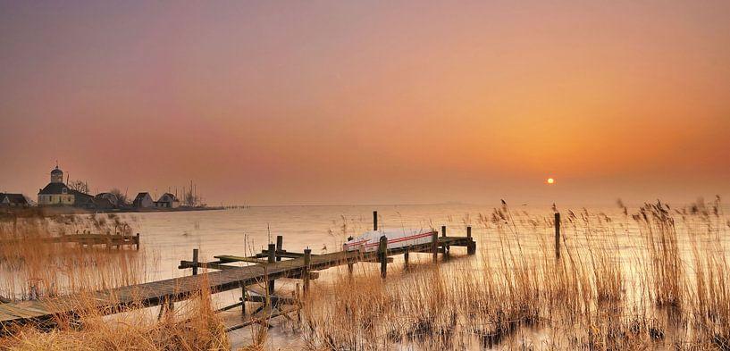 Zonsopkomst Durgerdam van John Leeninga